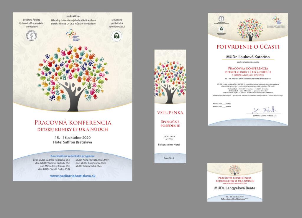 Pozvánka, certifikát, vstupenka a menovka