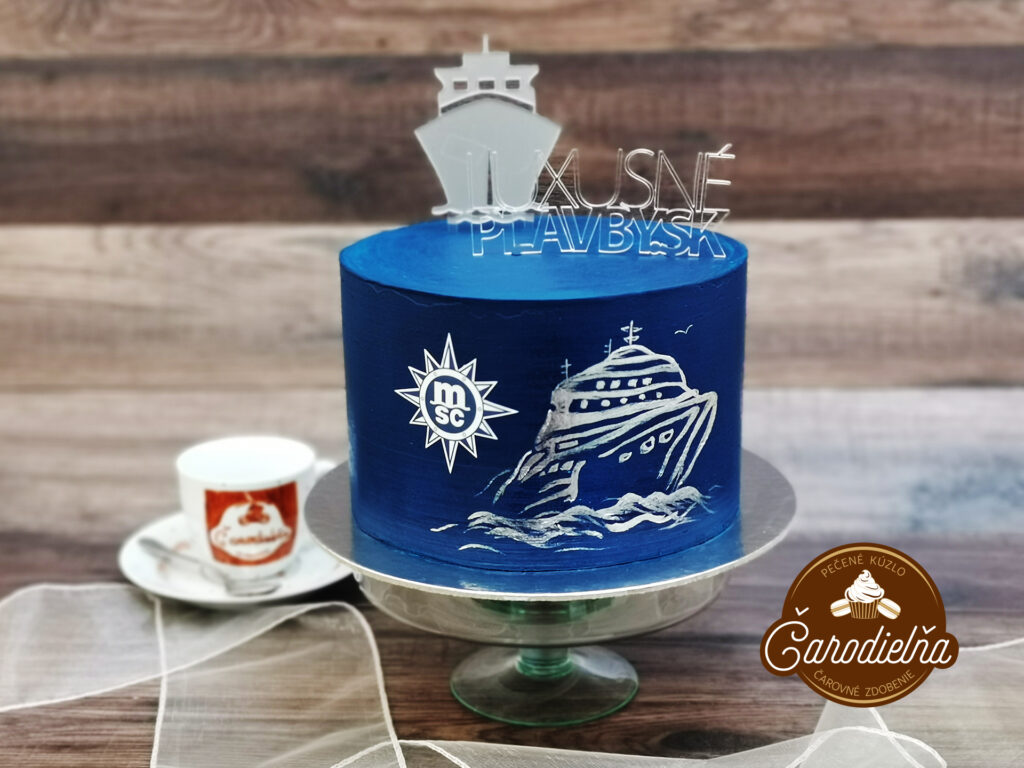 Maľovaná torta s 3D logom