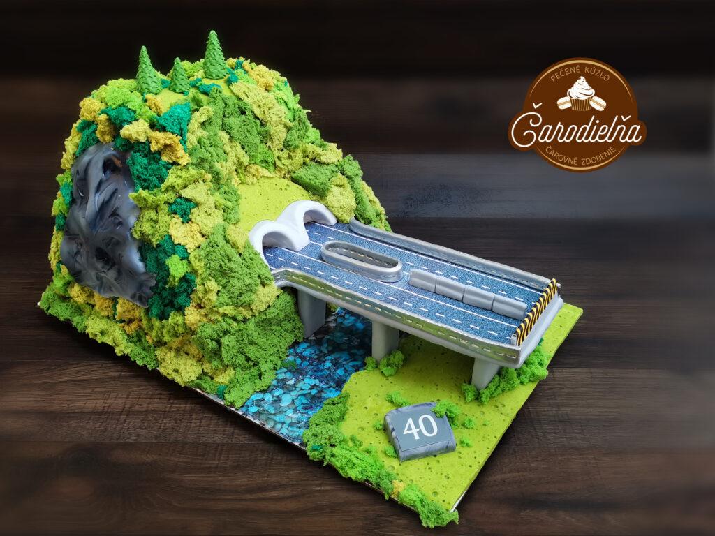 3D torta – tunel